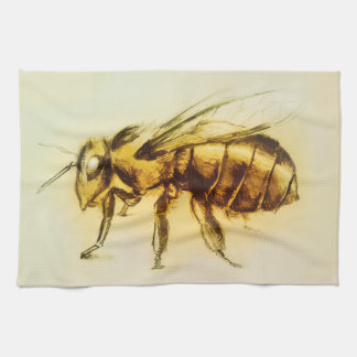 Colorful illustrated kitchen towel - Bee