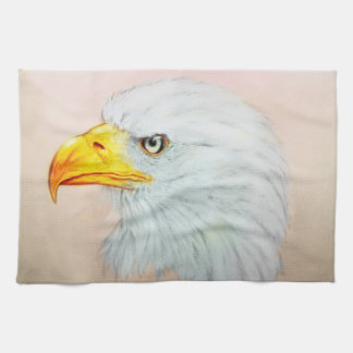 Colorful illustrated kitchen towel - Eagle