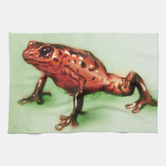 Colorful illustrated kitchen towel - Frog