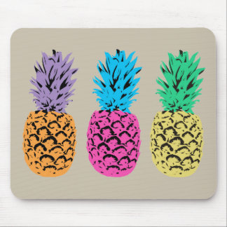 Colorful illustrated Pineapples Mouse Pad