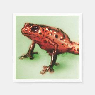 Colorful illustrated set of napkins - Frog