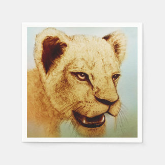 Colorful illustrated set of napkins - Lion
