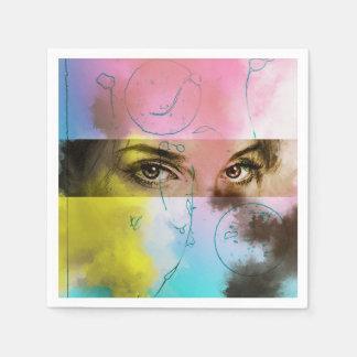 Colorful illustrated set of napkins - Stare Paper Napkin
