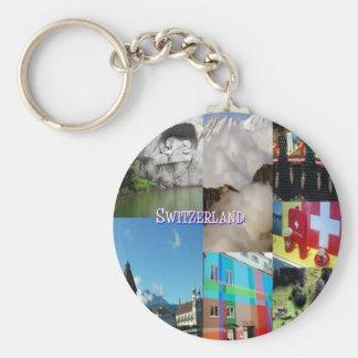 Colorful Images of Switzerland by Celeste Sheffey Keychain