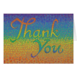 """Colorful Impressionistic """"Thank You"""" card"""