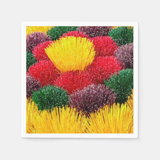 Colorful Incense DOD Party Paper Napkins