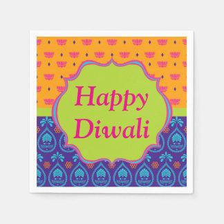 Colorful Indian Pattern Design Diwali Celebration Paper Napkin