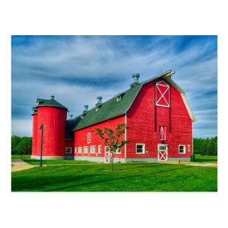 Colorful Indiana Barn Postcard
