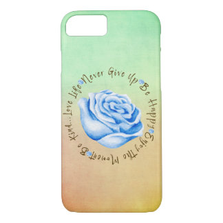 Colorful Inspirational Quote Affirmation Circle iPhone 8/7 Case