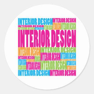 Colorful Interior Design Round Sticker