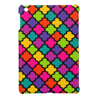 Colorful iPad Case Cover Bold Bright Moroccan Tile