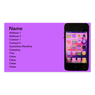 Colorful iPhone Pack Of Standard Business Cards