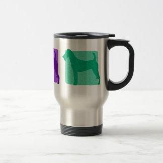 Colorful Irish Terrier Silhouettes Travel Mug