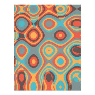 Colorful irregular shapes flyers