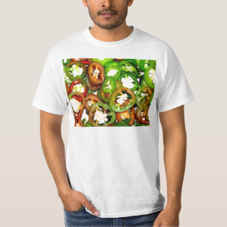 Colorful Jalapeno Pepper Slices T-Shirt