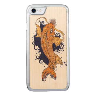 Colorful Japanese Koi Carved iPhone 8/7 Case
