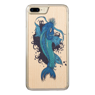 Colorful Japanese Koi Carved iPhone 8 Plus/7 Plus Case
