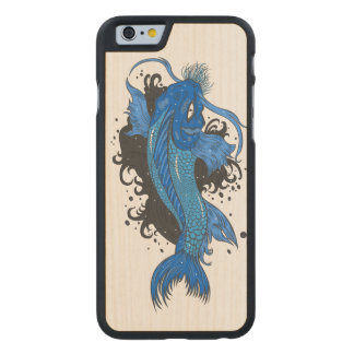 Colorful Japanese Koi Carved Maple iPhone 6 Case
