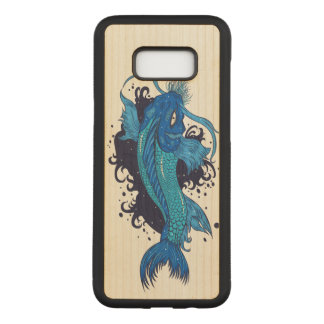 Colorful Japanese Koi Carved Samsung Galaxy S8+ Case