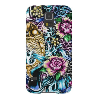 Colorful Japanese Koi tattoo art Galaxy S5 Cover