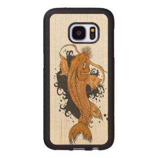Colorful Japanese Koi Wood Samsung Galaxy S7 Case