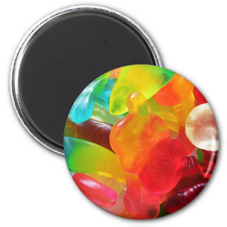 colorful jelly gum texture 2 inch round magnet