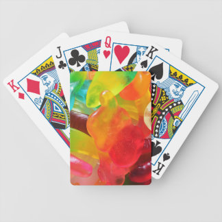 colorful jelly gum texture bicycle playing cards