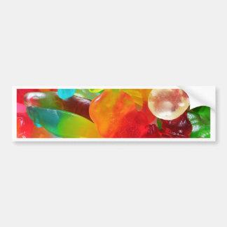 colorful jelly gum texture bumper sticker