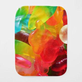 colorful jelly gum texture burp cloth