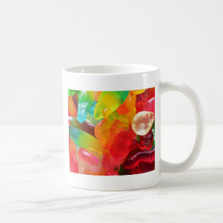 colorful jelly gum texture coffee mug