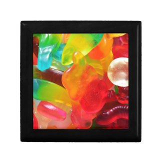 colorful jelly gum texture gift box