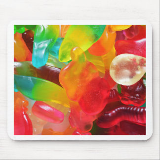 colorful jelly gum texture mouse pad