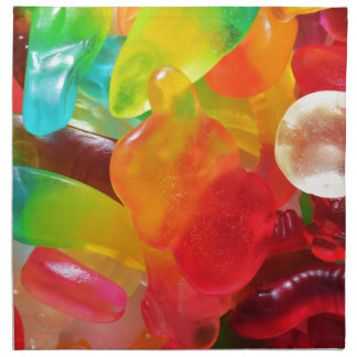 colorful jelly gum texture napkin