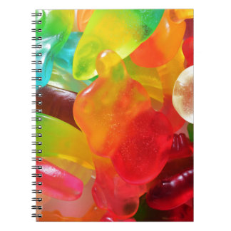 colorful jelly gum texture note book