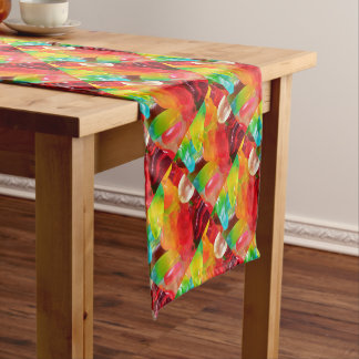 colorful jelly gum texture short table runner