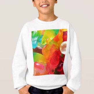 colorful jelly gum texture sweatshirt