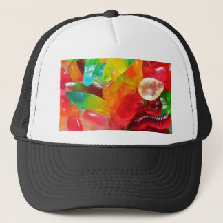 colorful jelly gum texture trucker hat
