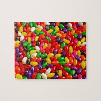 Colorful jellybean candy puzzle
