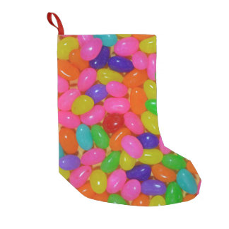 Colorful jellybean candy small christmas stocking
