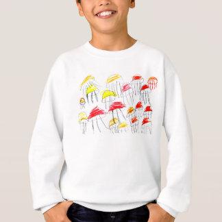 Colorful jellyfish drawn by a 5 year old girl sweatshirt