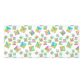Colorful jewel toned summer colors abstract art 4x9.25 paper invitation card