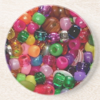 Colorful Jewelry Beads Drink Coaster