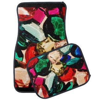 Colorful Jewels Gems Crystals Vibrant Full Set Floor Mat