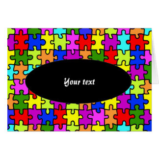 Colorful jigsaw puzzle greeting card