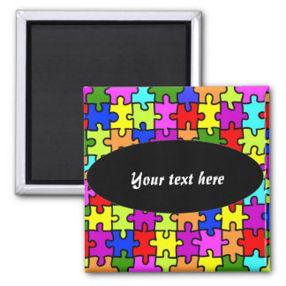 'Colorful jigsaw puzzle' magnet