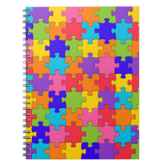 Colorful Jigsaw Puzzle Notebook