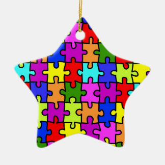 'Colorful jigsaw puzzle' ornament