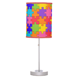 Colorful Jigsaw Puzzle Table Lamp