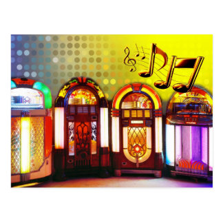 Colorful Jukeboxes Postcard