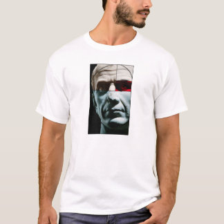 Colorful Julius Ceasar Head in Golden Section T-Shirt